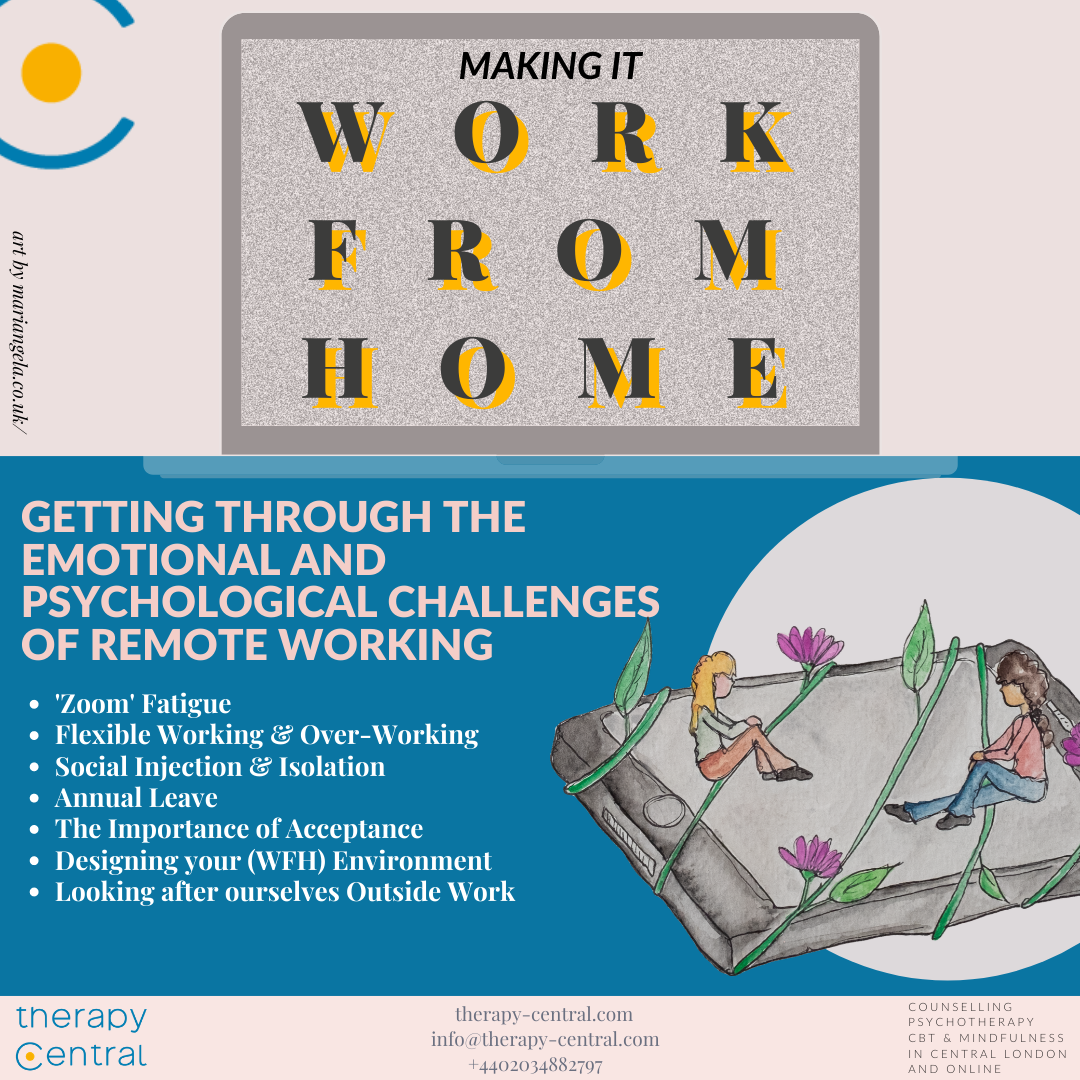 Making it work from home, psychological and emotional challenges