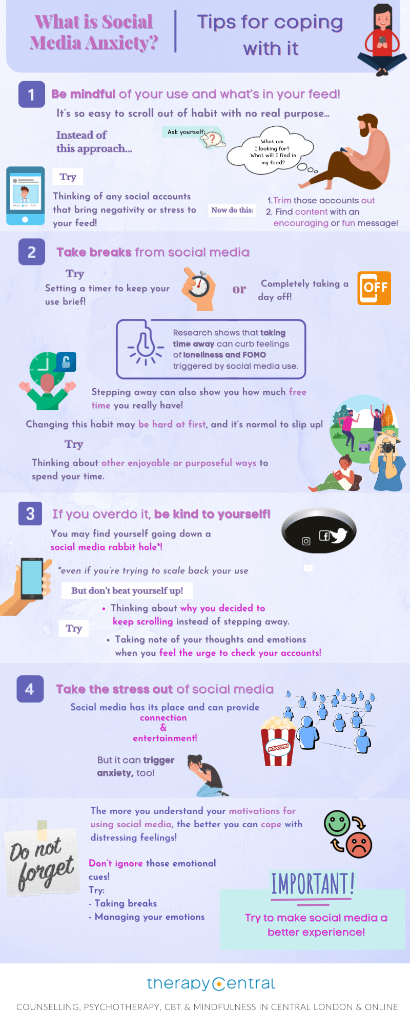 infographic what is social media Anxiety - Coping