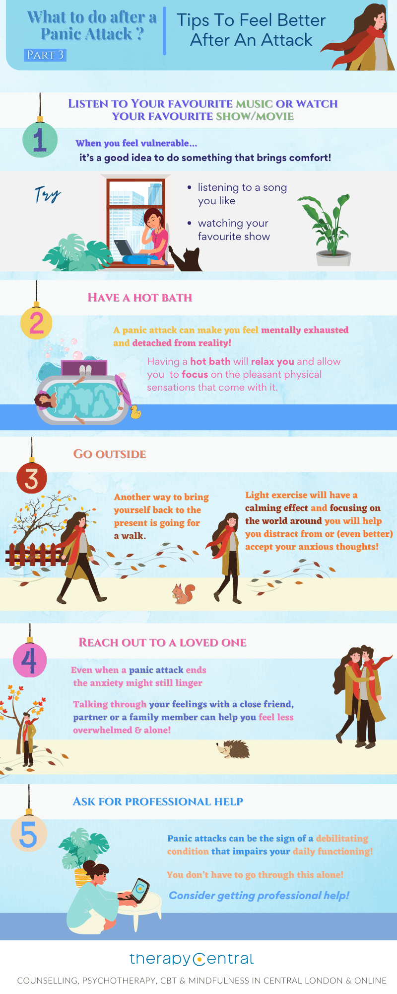 Infographic - What To Do After Panic Attack 3